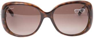 Gucci Brown Plastic Sunglasses