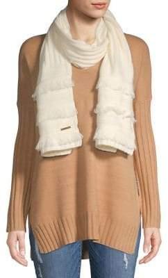MICHAEL Michael Kors Fringe Knit Wrap Scarf