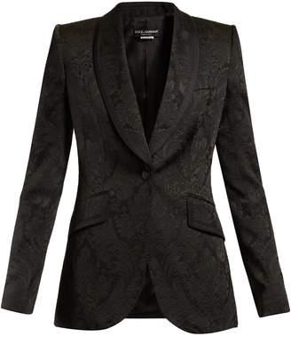 Dolce & Gabbana Shawl-lapel brocade blazer