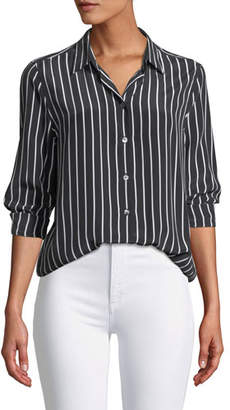 Equipment Essential Excellence Striped Silk Button-Front Shirt