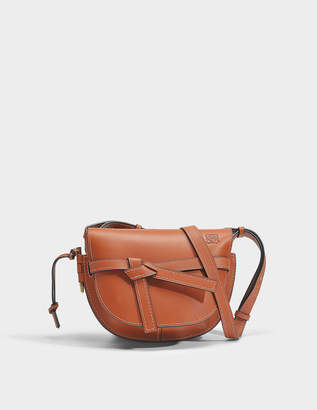 Loewe Gate Small Bag in Rust Soft Natural Calf