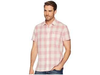 Calvin Klein Jeans Short Sleeve Gauze Check Button Down Men's Short Sleeve Button Up