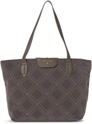 Patrizia Pepe Studded Velvet Shopper Bag
