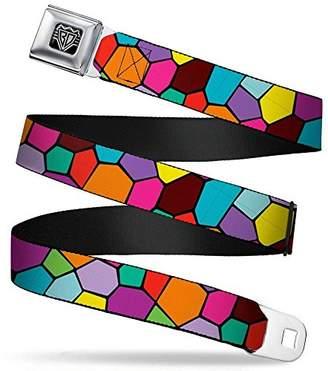 Buckle-Down Unisex-Adults Seatbelt Belt Mosaic XL