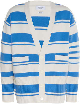 Thom Browne Striped Cashmere Cardigan