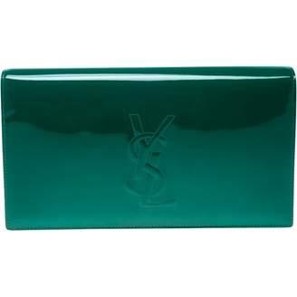 Saint Laurent Sac de Jour Green Patent leather Clutch Bag