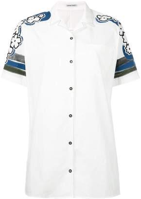 Tomas Maier printed shoulders shortsleeved shirt
