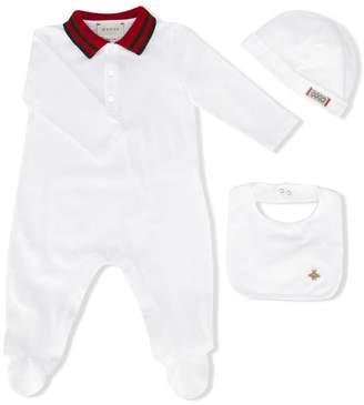 Gucci Kids contrast collar pyjama set