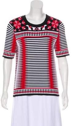 Torn By Ronny Kobo Patterned Short Sleeve Top