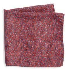 Saks Fifth Avenue COLLECTION Mini Pebble Print Pocket Square