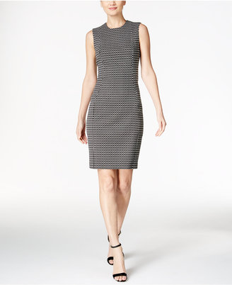 Calvin Klein Jacquard Sheath Dress $89.98 thestylecure.com