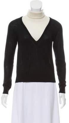 3.1 Phillip Lim Cashmere Turtleneck Colorblock Sweater