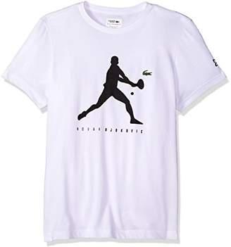 Lacoste Men's Short Sleeve Jersey Extensible with Novak Print T-Shirt