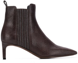 Brunello Cucinelli textured ankle boots