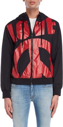Love Moschino Oversized Logo Lightweight Jacket
