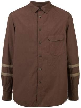Ziggy Chen stripe sleeve shirt