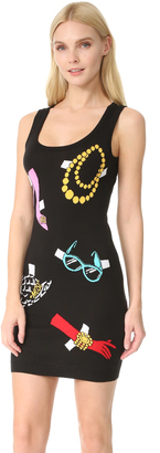Moschino Sleeveless Printed Dress $695 thestylecure.com