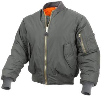 Rothco Enhanced Nylon MA-1 Flight Jacket, Military Bomber Jacket