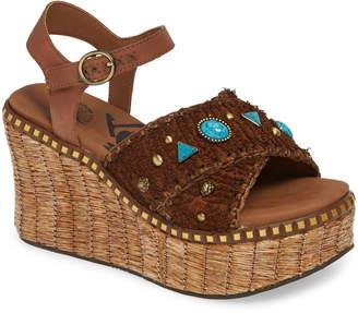 OTBT Cahoot Embellished Platform Wedge Sandal