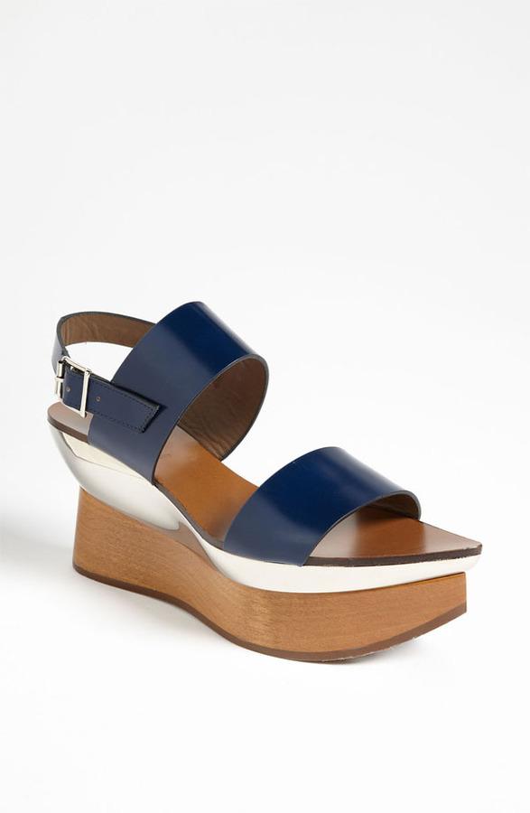 Marni Double Band Wedge Sandal