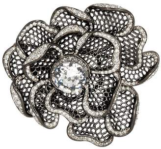Kenneth Jay Lane Gunmetal Flower Pin