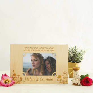 Natural Gift Store Sister To Sister Personalised Photo Frame