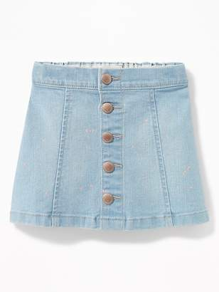 Old Navy Button-Front Denim Mini for Toddler Girls