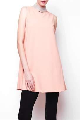 Gracia Stud Neck Flair Dress