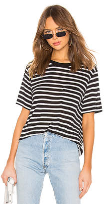 Alexander Wang Wide Striped Pocket Tee