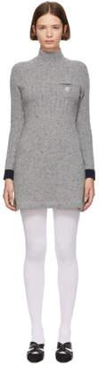 ALEXACHUNG Grey A-Line Dress