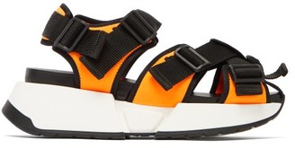 MM6 MAISON MARGIELA Safety Multi Strap Platform Sandals - Womens - Black Orange