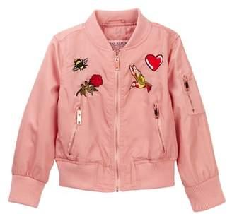 Urban Republic Patch Bomber Jacket (Toddler Girls)