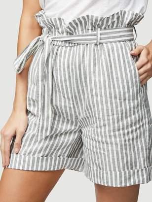 Frame Stripe Paperbag Short