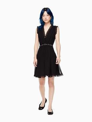 Kate Spade Chiffon embellished mini dress