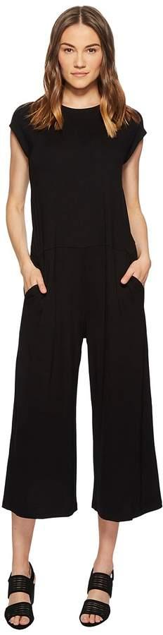 Eileen Fisher Lightweight Viscose Jersey Wide Leg Jumpsuit Women's Jumpsuit & Rompers One Piece