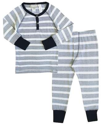 Coccoli Striped Pajama with Contrast Trim (Toddler, Little Kids, & Big Kids)
