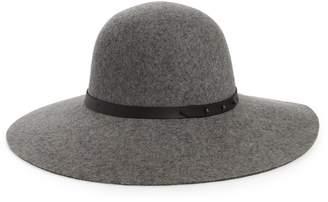 Halogen Refined Wide Brim Wool Floppy Hat