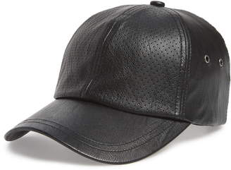 SWEAT ACTIVE Faux Leather Baseball Cap