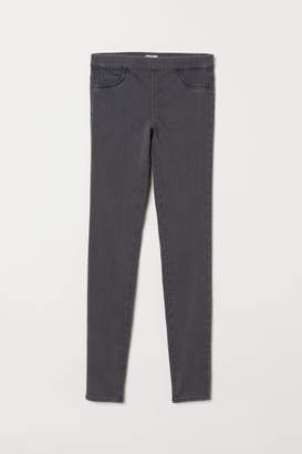 H&M Slim-fit Treggings - Gray