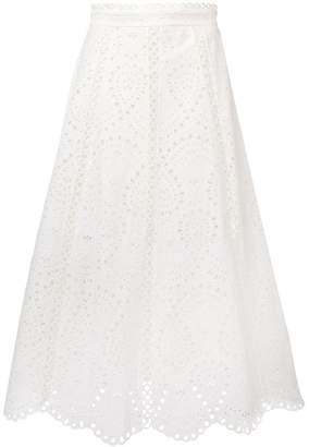 Zimmermann Shea broderie anglaise skirt