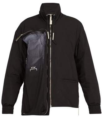 A-Cold-Wall* A Cold Wall* Spray Painted Multi Zip Jacket - Mens - Black