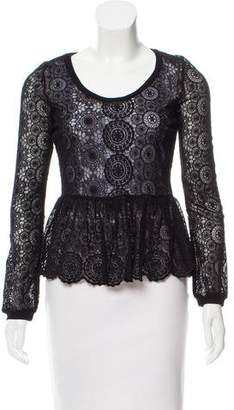 Adriano Goldschmied Lace Long Sleeve Top