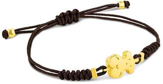 Tous 18K Yellow Gold Sweet Dolls Bear Cord Bracelet