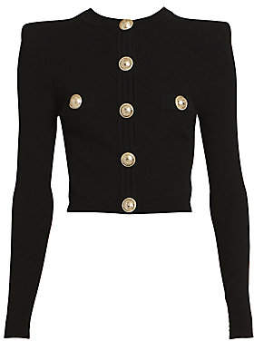 Balmain Women's Diamond Pattern Cardigan