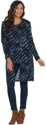 Susan Graver Printed Sweater Knit Duster and Tank Set