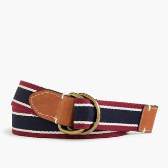J.Crew Cotton belt in horizontal stripe