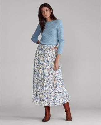 Ralph Lauren Reversible Floral Maxiskirt