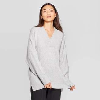 Prologue Women's Long Sleeve V-Neck Oversized Pullover Sweater - PrologueTM