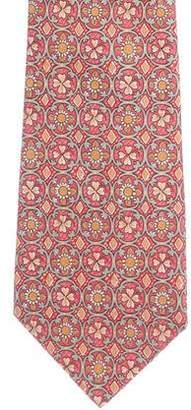 Hermes Floral Silk Tie