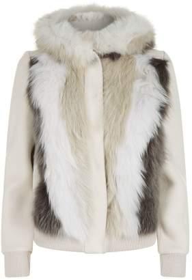Lorena Antoniazzi Fox Fur Panel Coat
